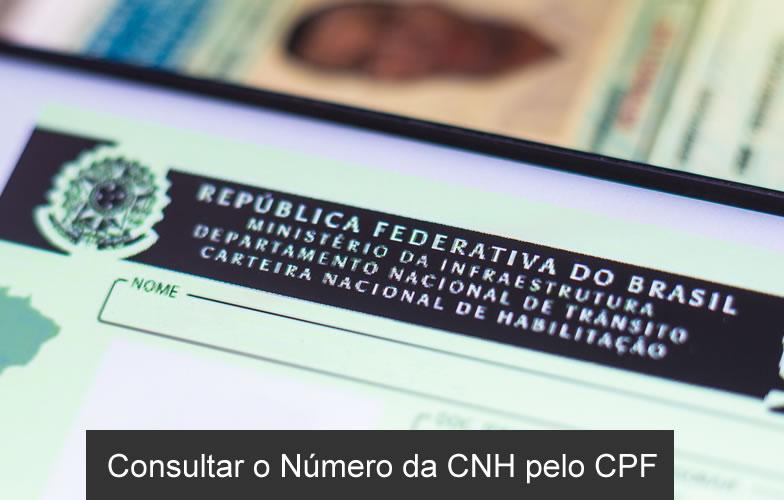 Consultar o Número da CNH pelo CPF